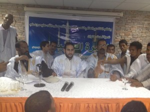 يظهر في الصورة الأخ الشريف : حم بن محمدناج حفظه الله ورعاه